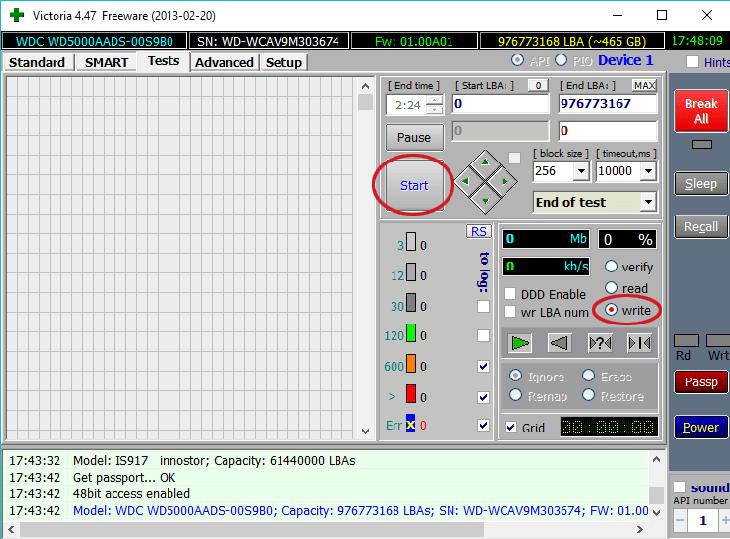 низкоуровневое форматирование жесткого диска программой victoria HDD