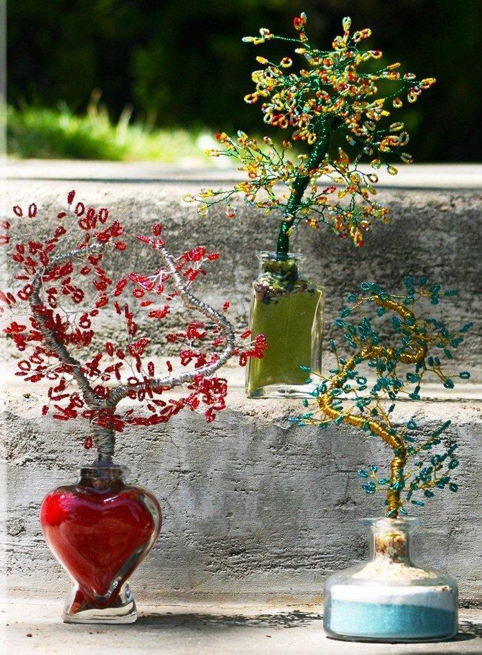 fullsize Времена года. Плетем деревья из бисера