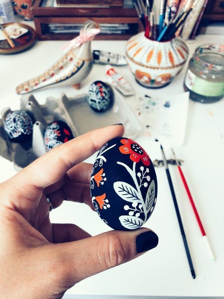 Пасхальные яйца фольклорные мотивы от художницы из Узбекистана Динары Мирталиповой, фото № 9