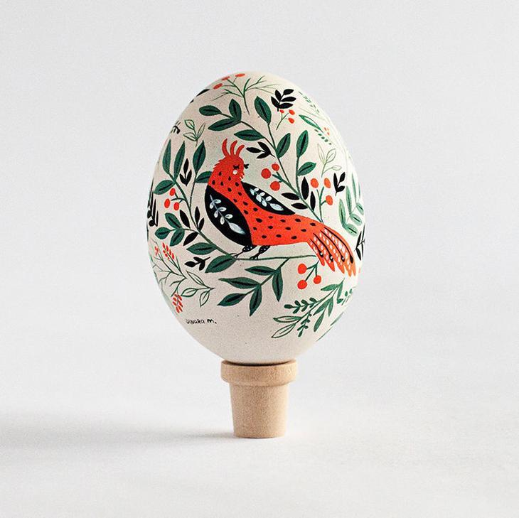 Пасхальные яйца фольклорные мотивы от художницы из Узбекистана Динары Мирталиповой, фото № 39