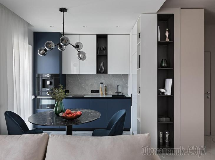 Как уместить две комнаты и кухню на 38 «квадратах» и ничего не упустить