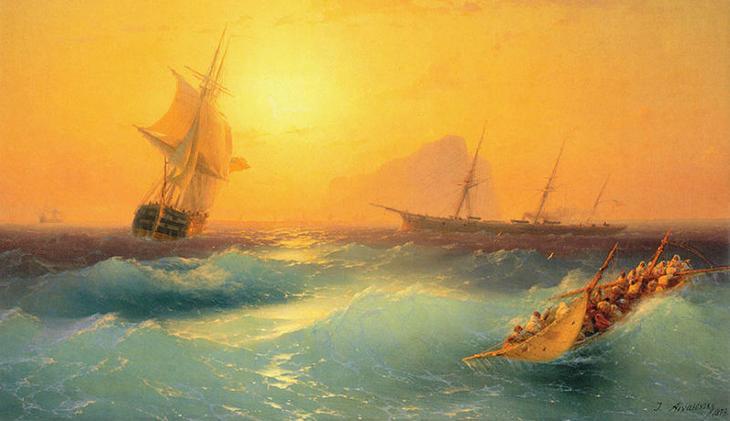 Фантастические светящиеся волны от русского мариниста XIX века