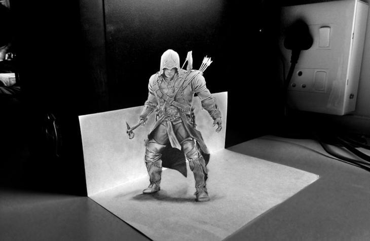 3Ddrawings28 Самые впечатляющие карандашные 3D рисунки от художников со всего света