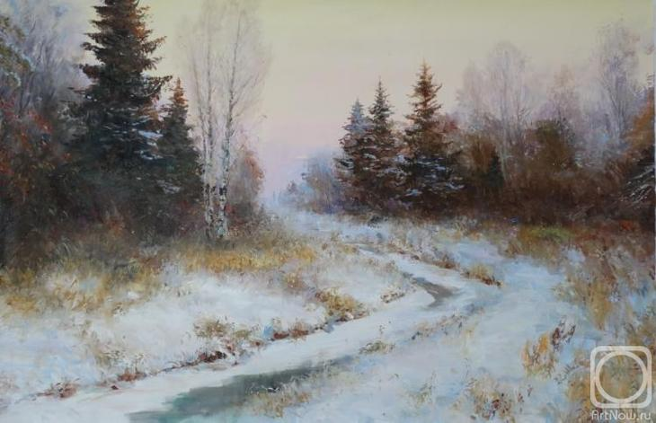 Картина маслом на холсте. Комаров Николай. Закат