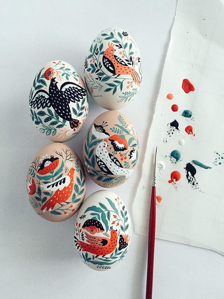 Пасхальные яйца фольклорные мотивы от художницы из Узбекистана Динары Мирталиповой, фото № 36