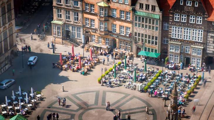 Рыночная площадь - историческая достопримечательность Бремена