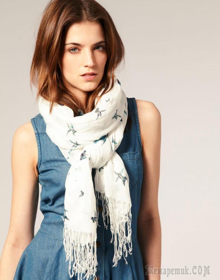 Как завязать красивый шарф - 10 наглядных способов