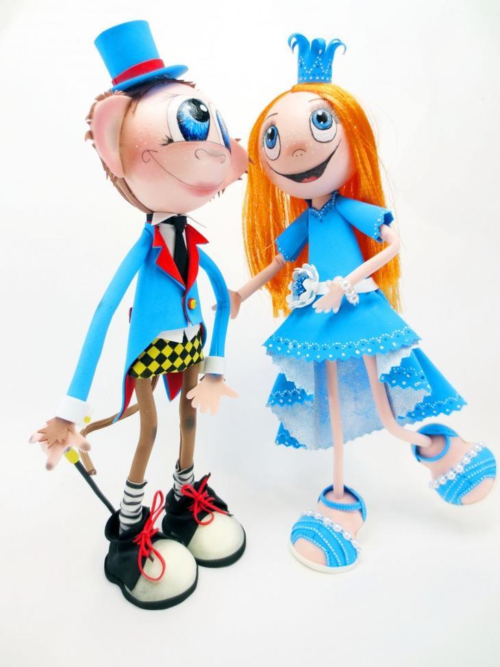 Принцесса и мышонок - куклы из фоамирана от евгении романовой