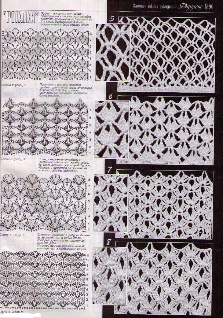 Схемы соединения для мотивов ирландского кружева крючком для начинающих, пример 4