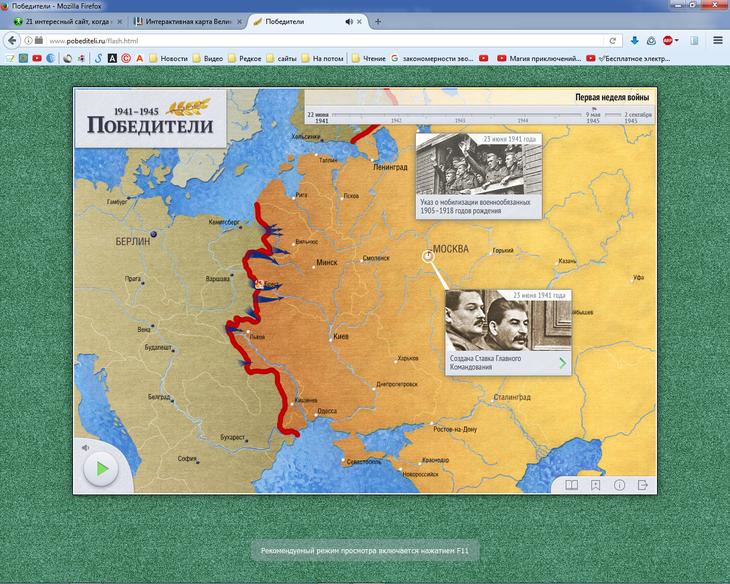 Рис. 15 – Визуализация событий 1941-1945