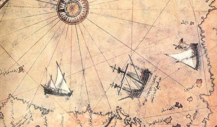 Карта Пири Рейса Карта Пири Рейса является одной из наиболее значимых мировых картах, когда-либо найденных. Османский адмирал Пири Рейс создал карту в 1513 — и, судя по всему, ее части мог использовать сам Христофор Колумб. Карта была обнаружена в 1929 году и стала международной сенсацией.