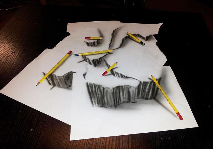 3Ddrawings29 Самые впечатляющие карандашные 3D рисунки от художников со всего света