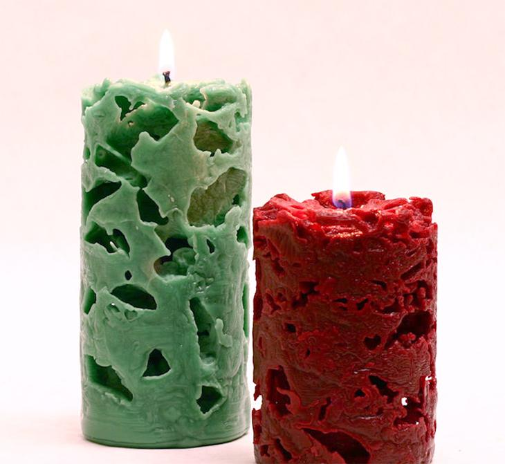 2 ажурные свечи
