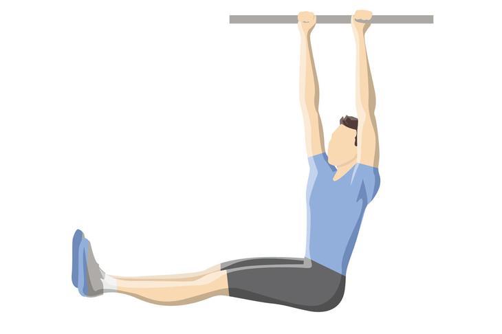 Упражнения на пресс — подъемы ног в висе