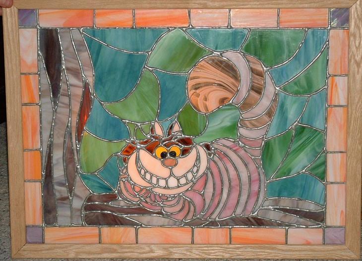 Коты на витражах. Фото