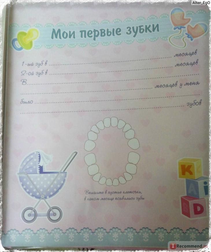 Анкета для новорожденных в фотоальбом