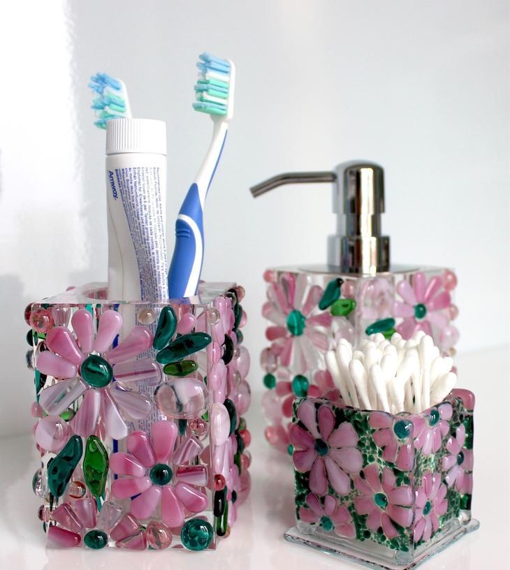 Фьюзинг-стаканчики для ванных принадлежностей