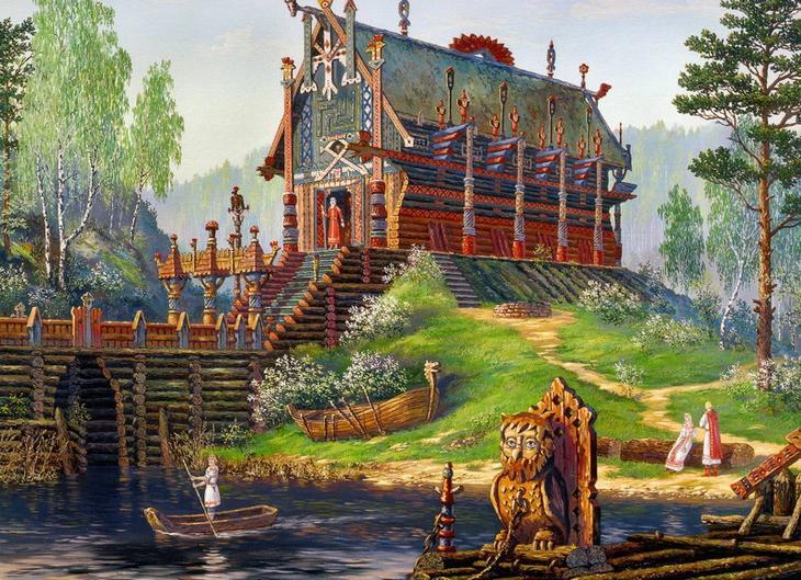 5. Начало строительства дома. древние славяне, история, обряды