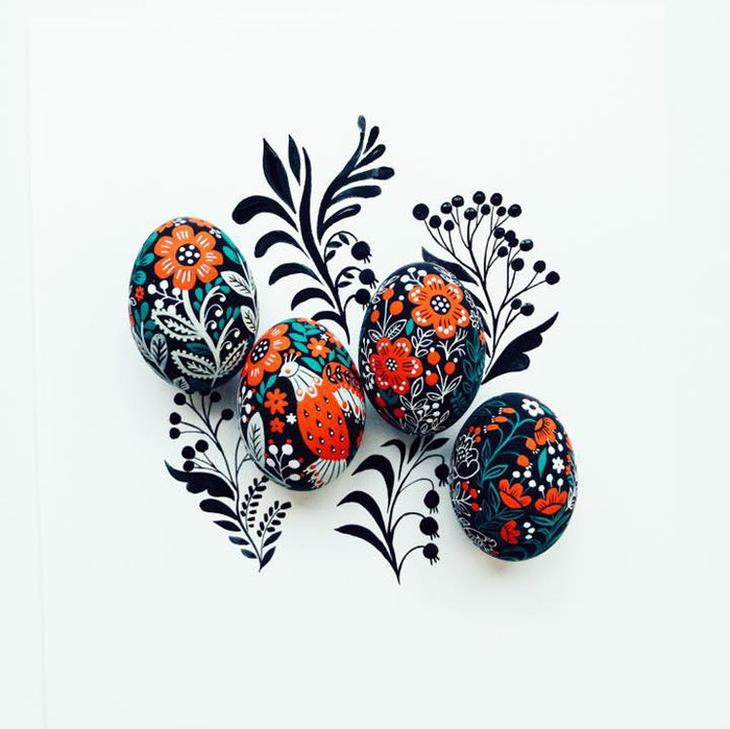 Пасхальные яйца фольклорные мотивы от художницы из Узбекистана Динары Мирталиповой, фото № 6