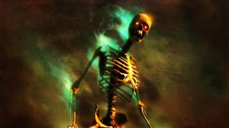 Светящийся скелет из Аризоны легенды, привидения, призраки, пыстыня