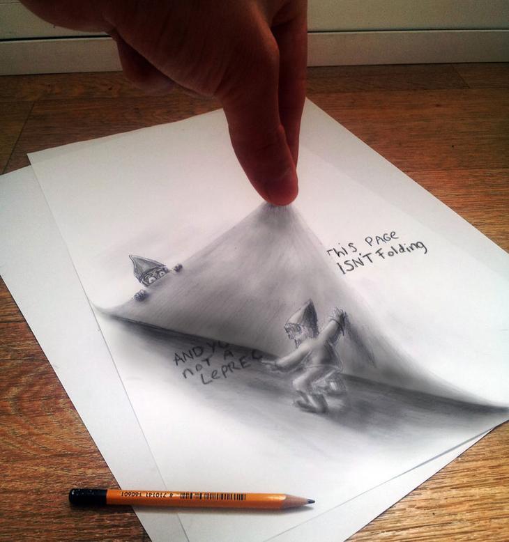 3Ddrawings11 Самые впечатляющие карандашные 3D рисунки от художников со всего света