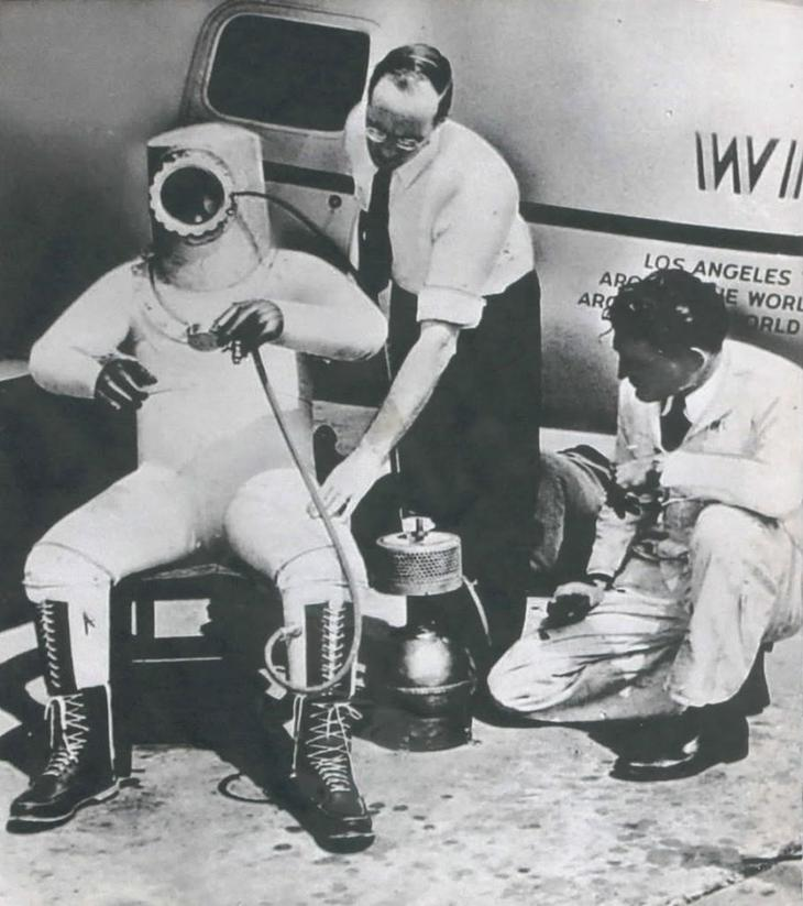 Высотный скафандр Вилли Поста, 1934 год.
