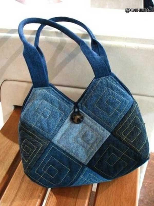 Стильные сумки из старых джинсов