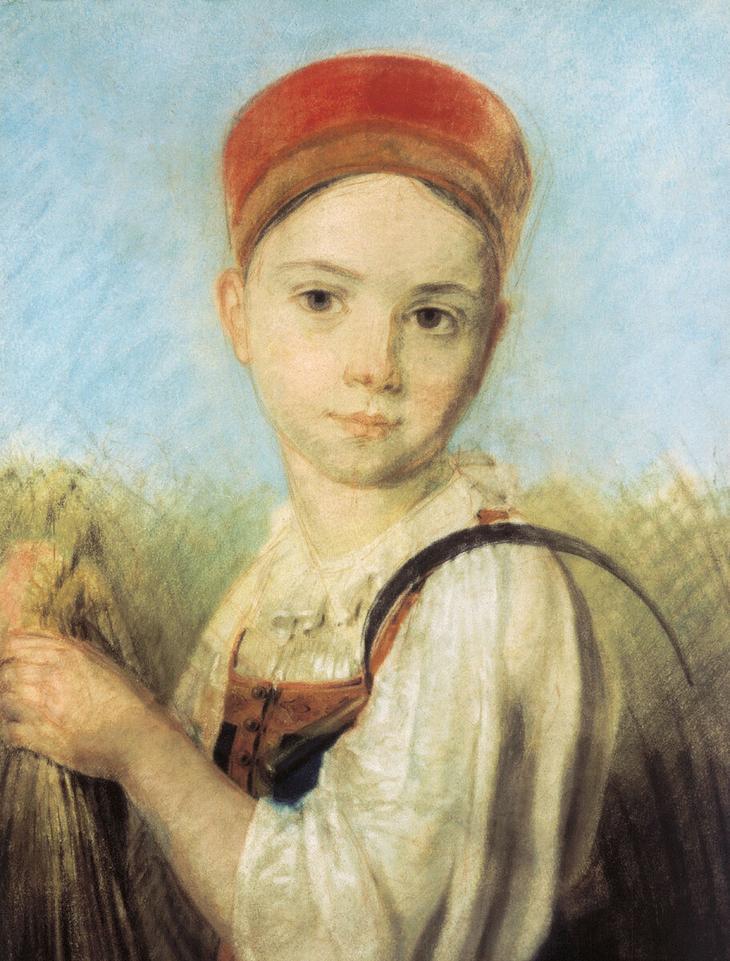 Александр Венецианов. Крестьянская девушка