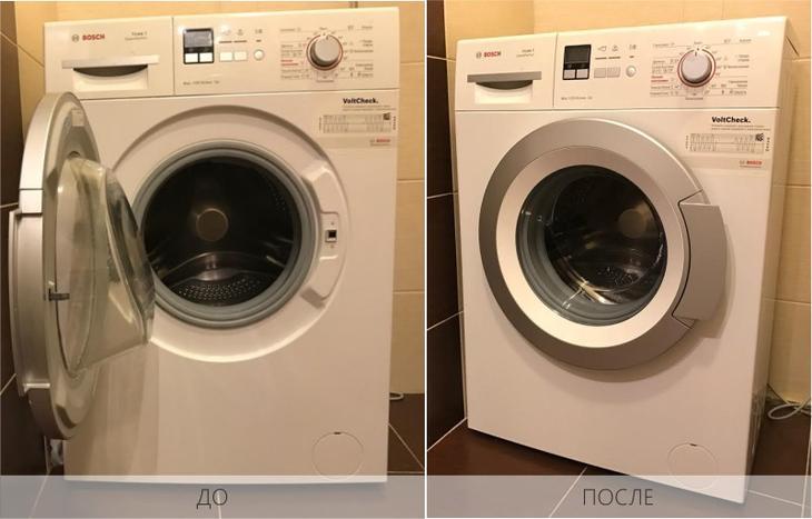 Стиральная машина до и после чистки