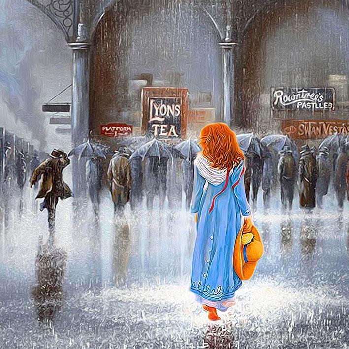 Полуденный вокзал - ты, я, дождь - и остальные (Стих)