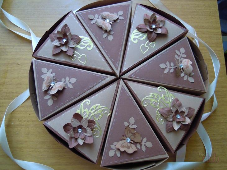 Торт из бумаги и картона с пожеланиями и сюрпризом своими руками: шаблон и схема