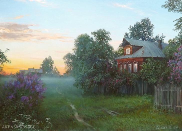 Утром - пейÐаж Ð'.Ð.Палачева