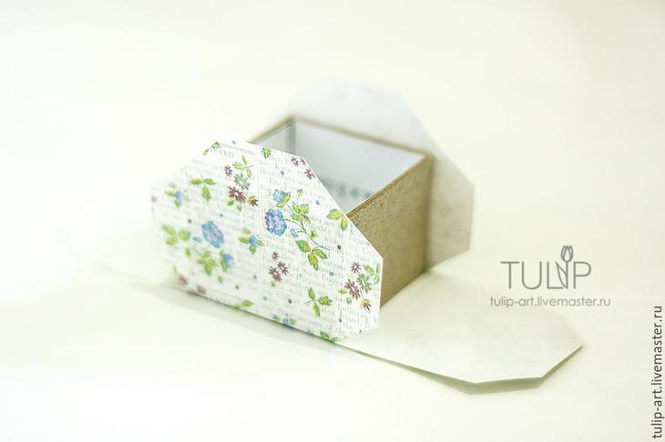 Мастер-класс: как создать подарочную коробочку для кольца, фото № 8