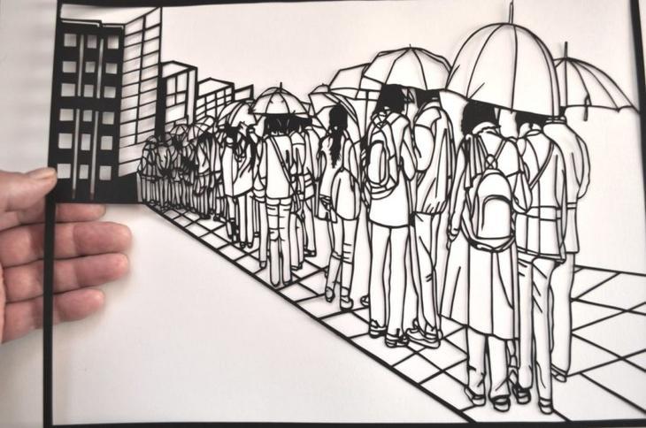 Дедушка из Пскова делает невероятные картины из бумаги