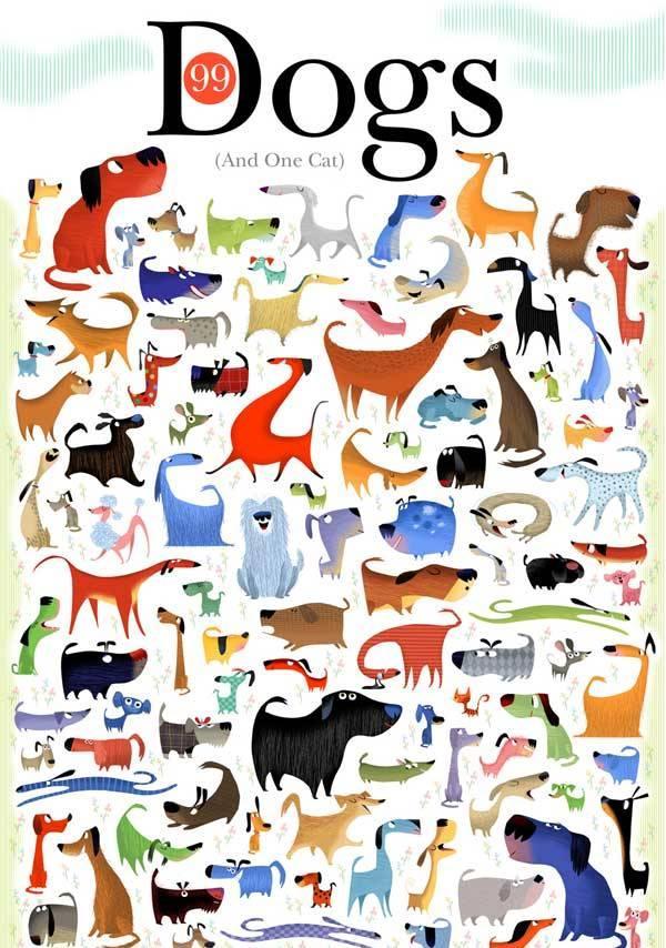 1 кошка спряталась среди 99 собак, и 1 песик – среди 99 кошек, как быстро вы их найдете?