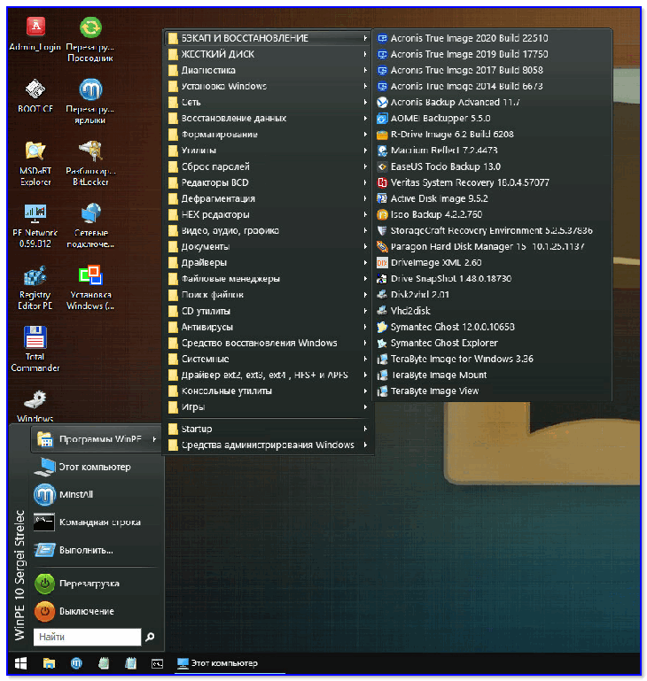Типовой LiveCD / Какие программы есть на диске