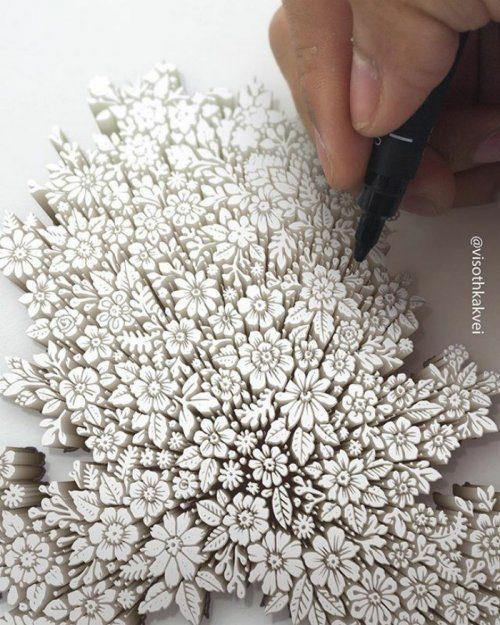 Невероятные рисунки от камбоджийского художника