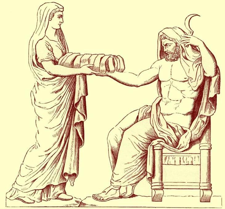 Серп Крона боги, легенды, мифы, оружие