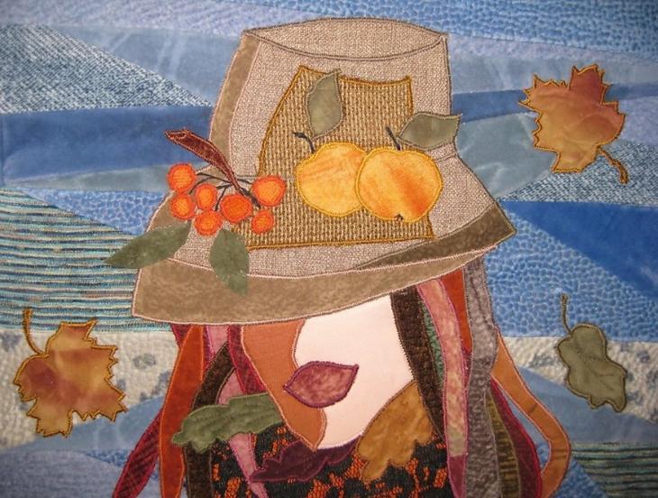 Панно из ткани в осенней тематике