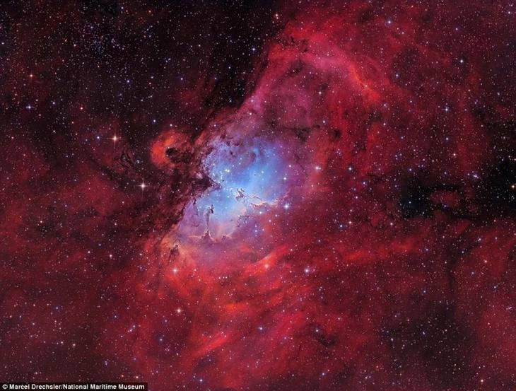 Туманность Орёл - рассеянное звёздное скопление в созвездии Змеи. Марсель Дрекслер, Германия. астрономия, конкурс, космос, красиво, лучшее, планеты, фото, фотографы