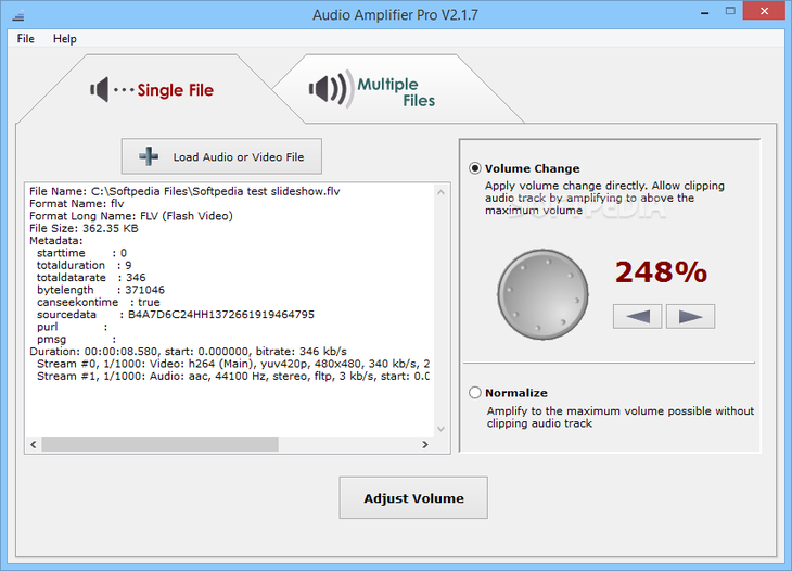 Внешний вид Audio Amplifier Pro