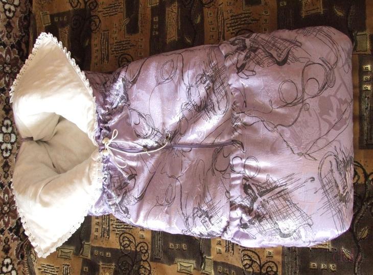 Конверт - одеяло с кулиской для девочки.
