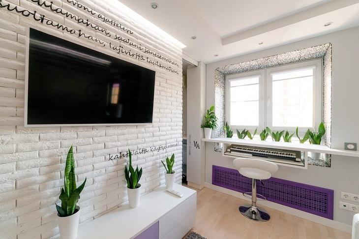 Гостиная в стиле Современный, Малогабаритная квартира, Квартира, Дома и квартиры – фото на skkrost.ru
