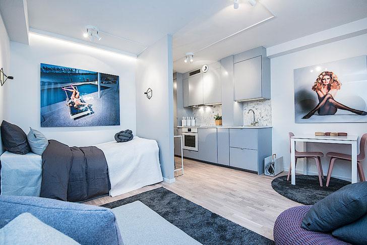 Ну очень маленькая квартира в Стокгольме (25 кв. м)