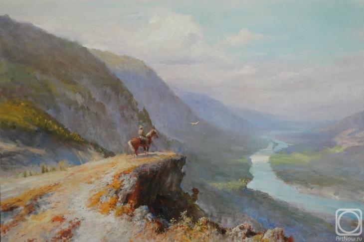 Картина маслом на холсте. Комаров Николай. Наедине с Вечностью