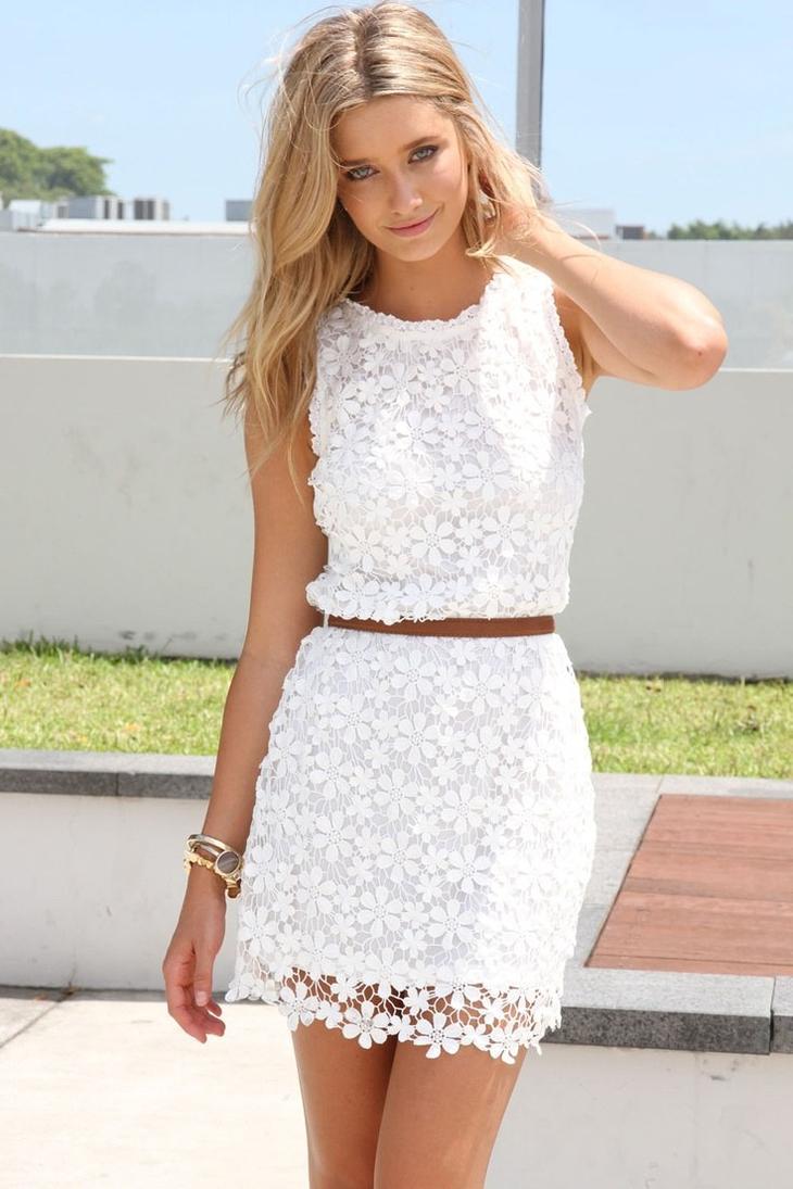 Летние белые платья: очарование и женственность белоснежных нарядов