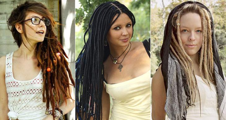 Женские косички раста