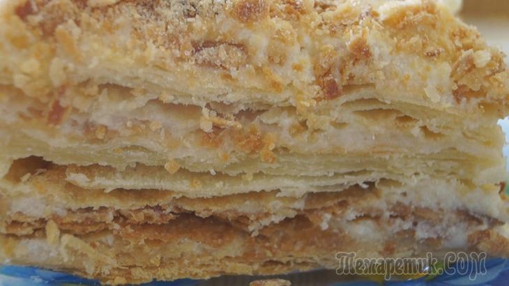 Торт «Наполеон» Классический. Нежный, ароматный и очень вкусный!