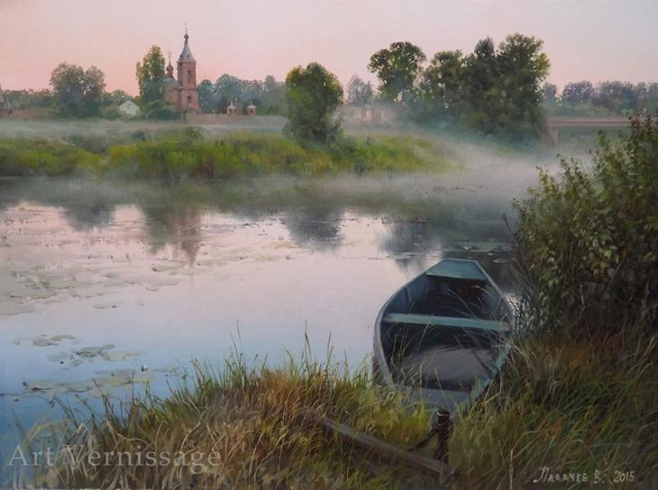 Тихое утро - картина Ð'.Ð.Потапова