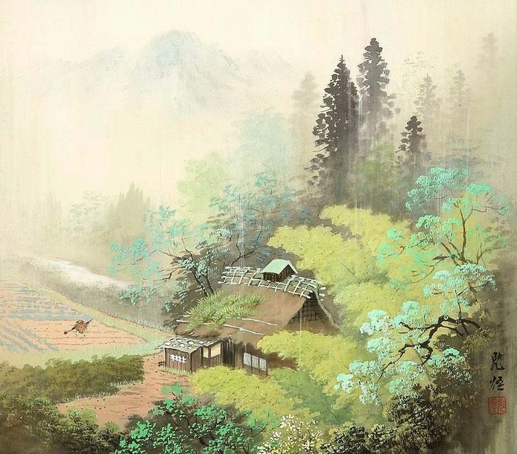 """Тончайшая пейзажная живопись в японском стиле """"сансуй"""" -- работы кисти Коукеи Кодзима"""